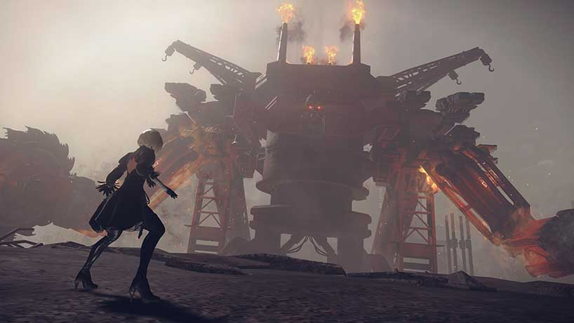 Battle in NieR: Automata